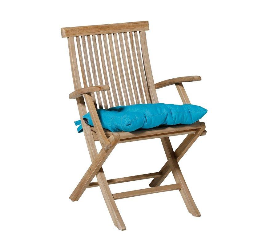 Toscane Panama Sitzkissen für Gartensessel oder Gartenbänke 46x46cm Aqua Blau