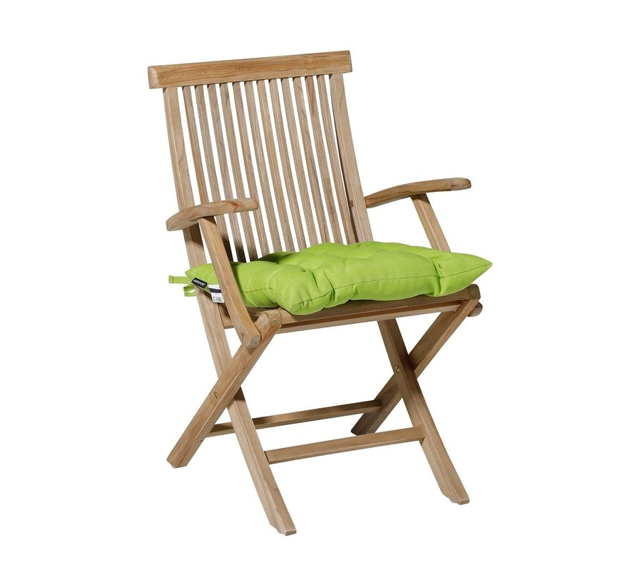 Toscane Panama Sitzkissen für Gartensessel oder Gartenbänke 46x46cm Lime Grün