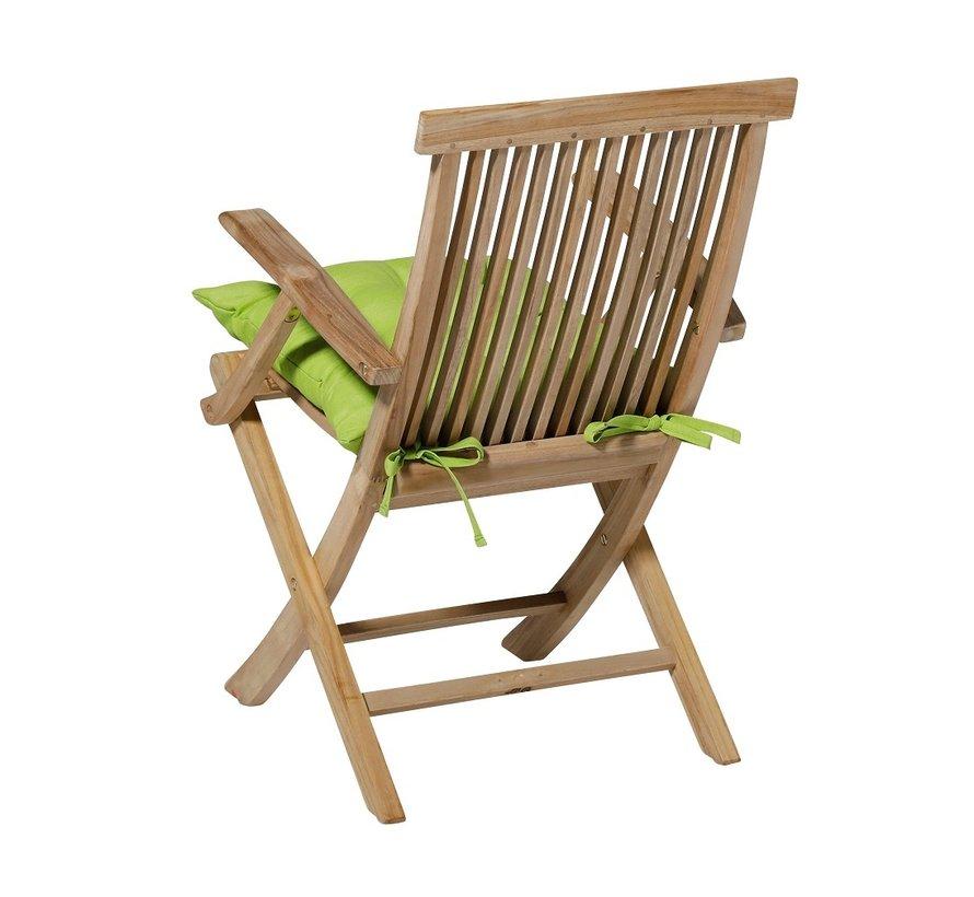 Toscane Panama Zitkussen 46x46cm voor tuinstoel of tuinbank Lime Groen