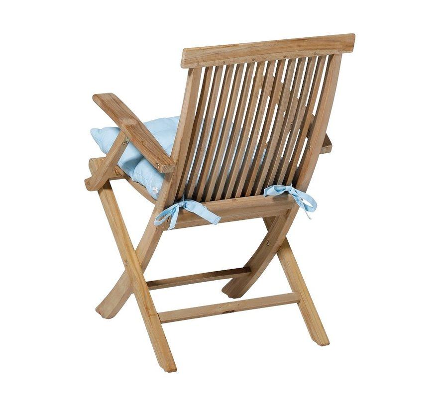 Toscane Panama Sitzkissen für Gartensessel oder Gartenbänke 46x46cm Sky Blau