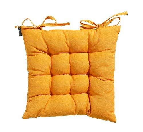 Madison Toscane Panama Sitzkissen für Gartensessel oder Gartenbänke 46x46cm Ockergelb