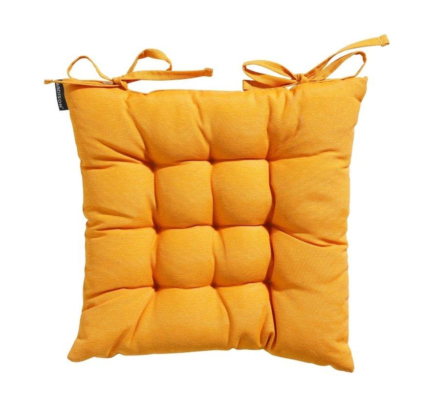 Toscane Panama Sitzkissen für Gartensessel oder Gartenbänke 46x46cm Ockergelb