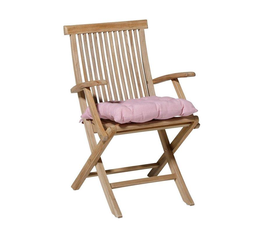 Toscane Panama Sitzkissen für Gartensessel oder Gartenbank 46x46cm Rosa