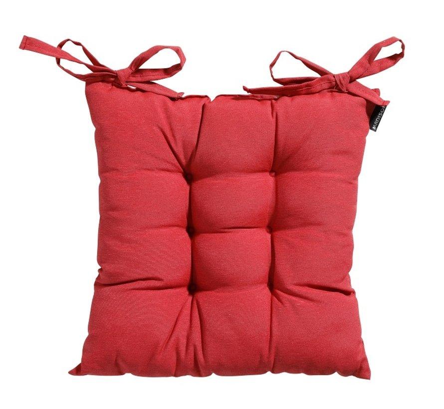 Toscane Panama Sitzkissen für Gartensessel oder Gartenbank 46x46cm Ziegel Rot