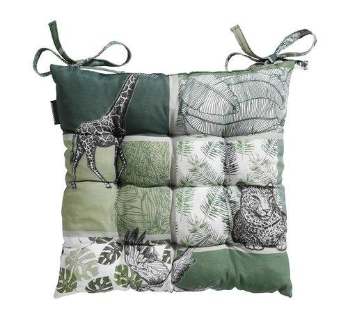 Madison Toscane Sitzkissen für Gartensessel oder Gartenbank 46x46cm Sifra Grün