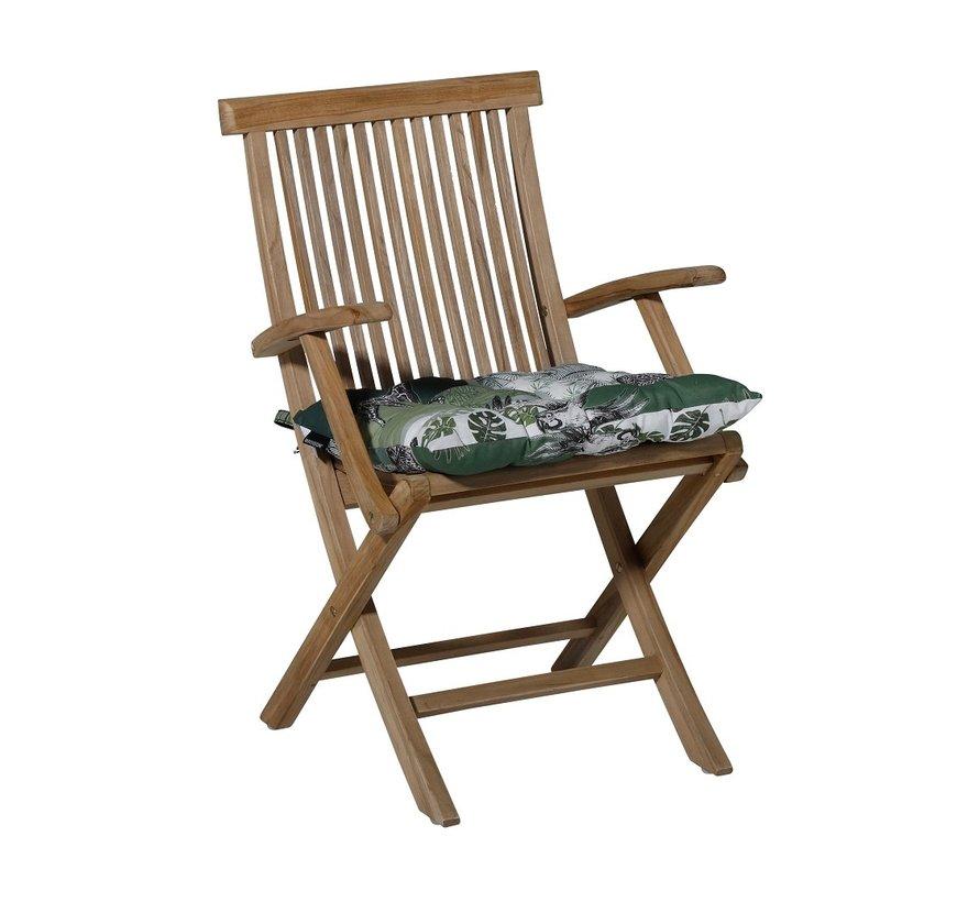 Toscane Sitzkissen für Gartensessel oder Gartenbank 46x46cm Sifra Grün