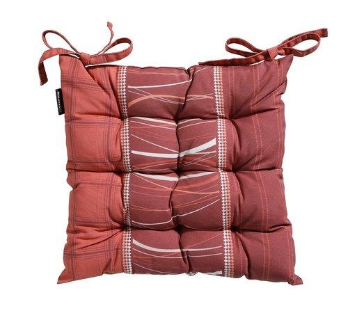 Madison Toscane Panama Sitzkissen für Gartensessel oder Gartenbank 46x46cm Lines Rot