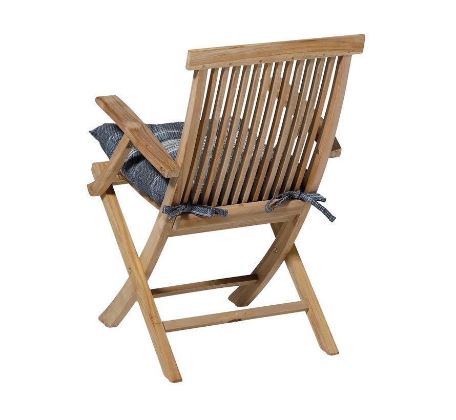 Toscane Sitzkissen für Gartensessel oder Gartenbank 46x46cm Simon Blau
