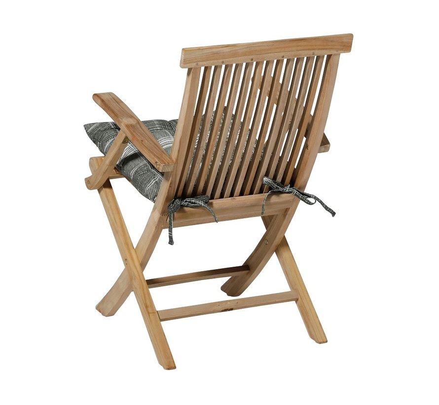 Toscane Sitzkissen für Gartensessel oder Gartenbank 46x46cm Simon Grün