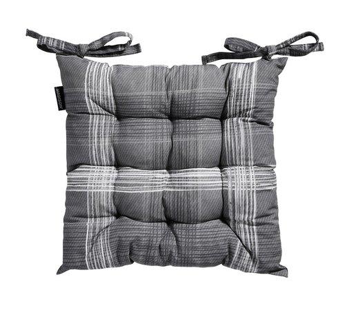 Madison Toscane Sitzkissen für Gartensessel oder Gartenbank 46x46cm Simon Grau