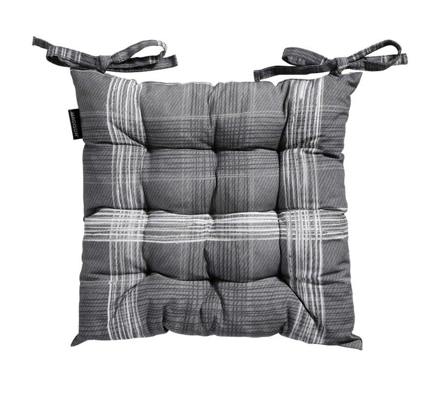 Toscane Sitzkissen für Gartensessel oder Gartenbank 46x46cm Simon Grau