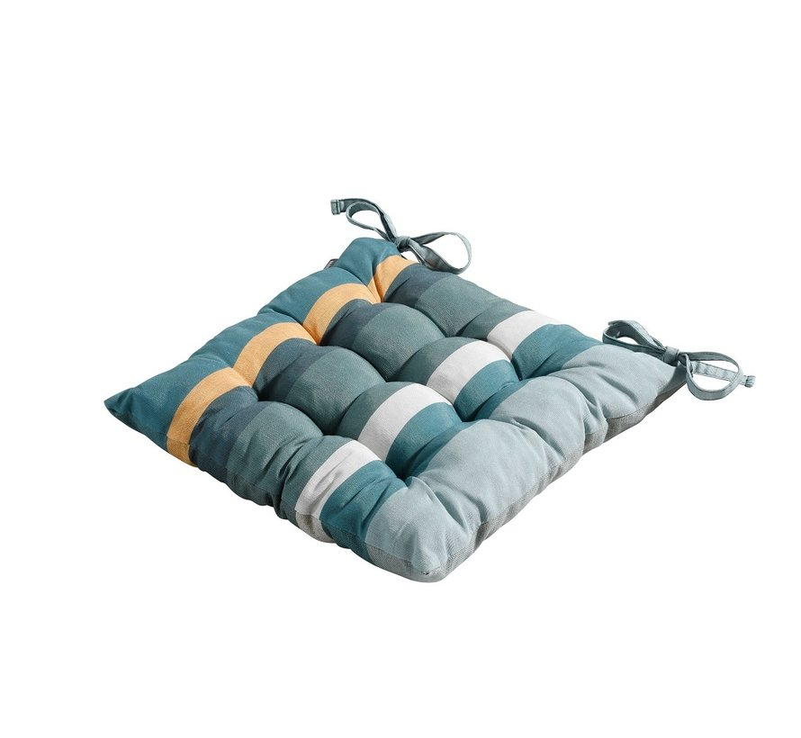 Toscane Sitzkissen für Gartensessel oder Gartenbank 46x46cm Stripe Grün