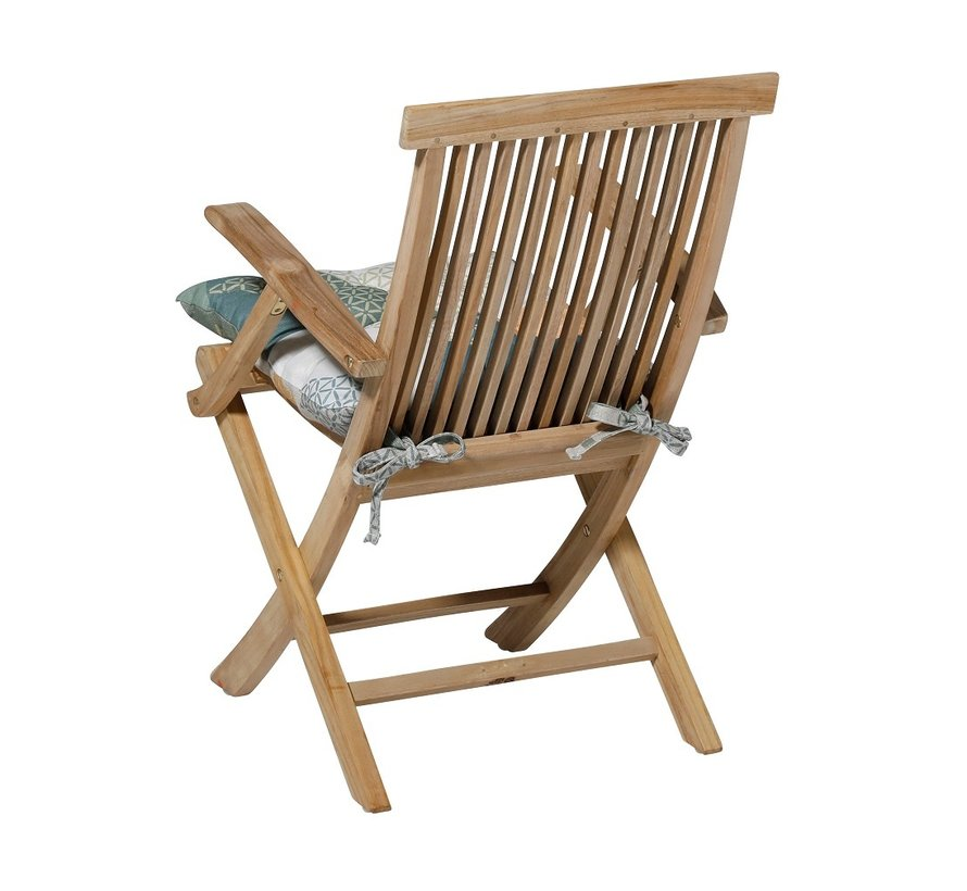 Toscane Sitzkissen für Gartensessel oder Gartenbank 46x46cm Triangle Grün