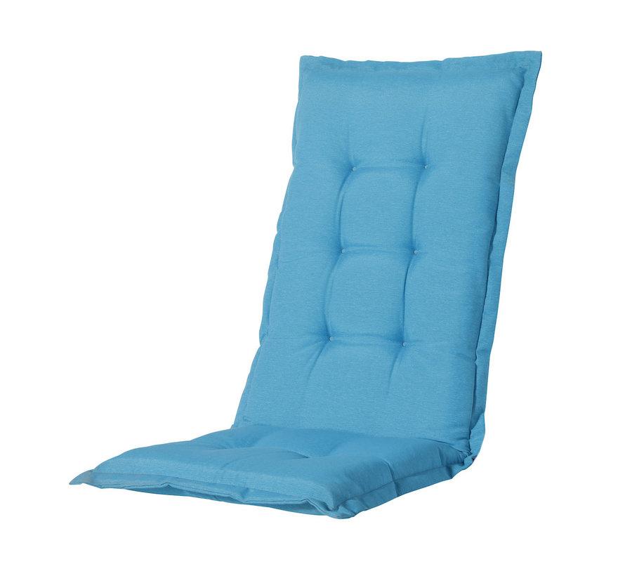 Madison stoelkussen hoge rug Aqua Blauw 123cm