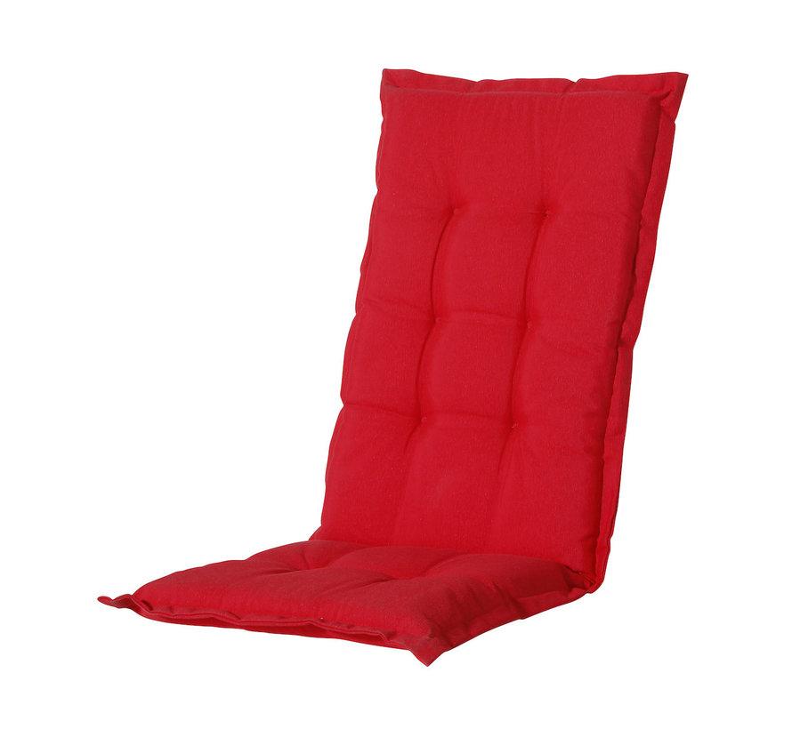 Madison stoelkussen hoge rug Rood 123cm