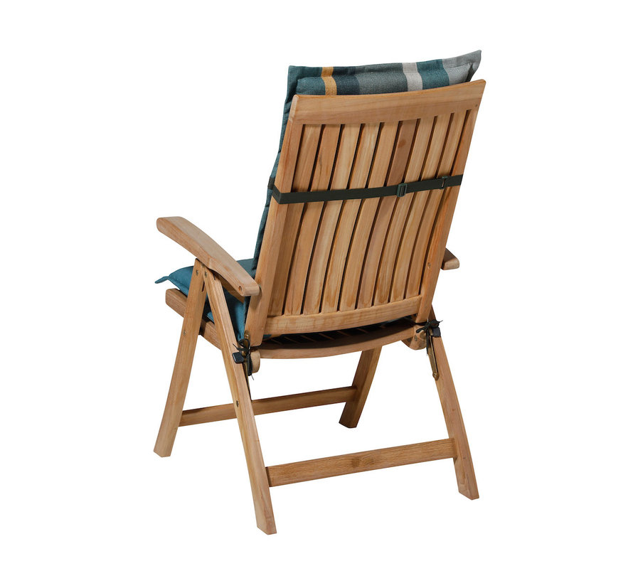 Madison Stuhlauflage Hochlehner Stripe Grün 123cm