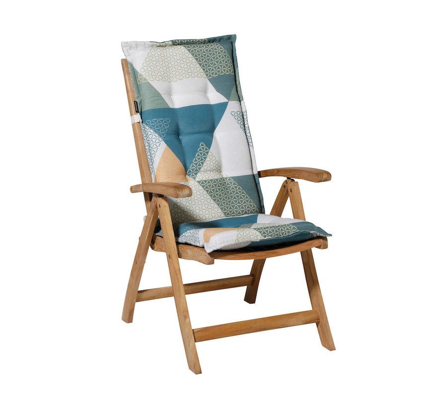 Madison stoelkussen hoge rug Triangle Groen 123cm