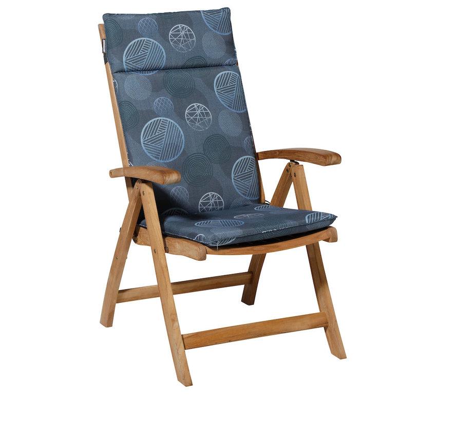 Madison stoelkussen hoge rug Circle Blauw 123cm