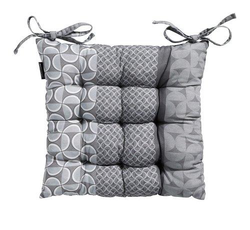 Madison Toscane Sitzkissen für Gartensessel oder Gartenbänke 46x46cm Pasa Grau