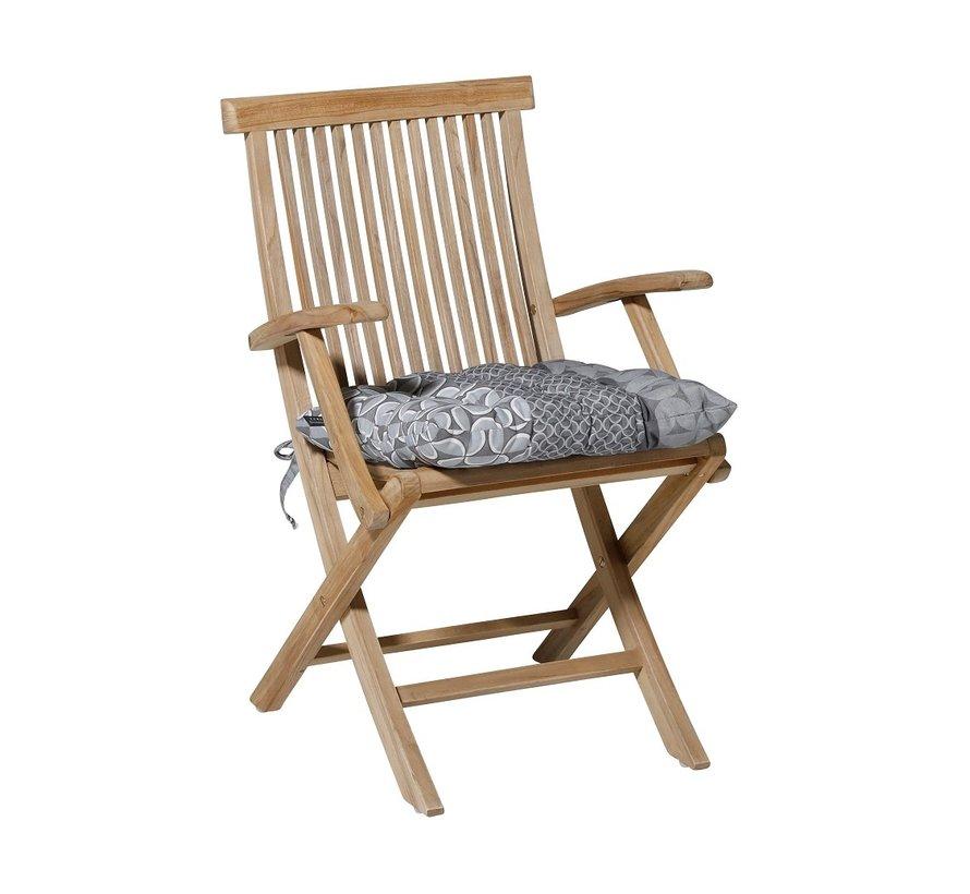 Toscane Sitzkissen für Gartensessel oder Gartenbänke 46x46cm Pasa Grau