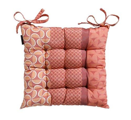 Madison Toscane Sitzkissen für Gartensessel oder Gartenbänke 46x46cm Pasa Rot