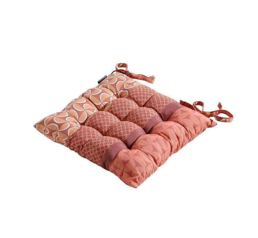 Toscane Sitzkissen für Gartensessel oder Gartenbänke 46x46cm Pasa Rot