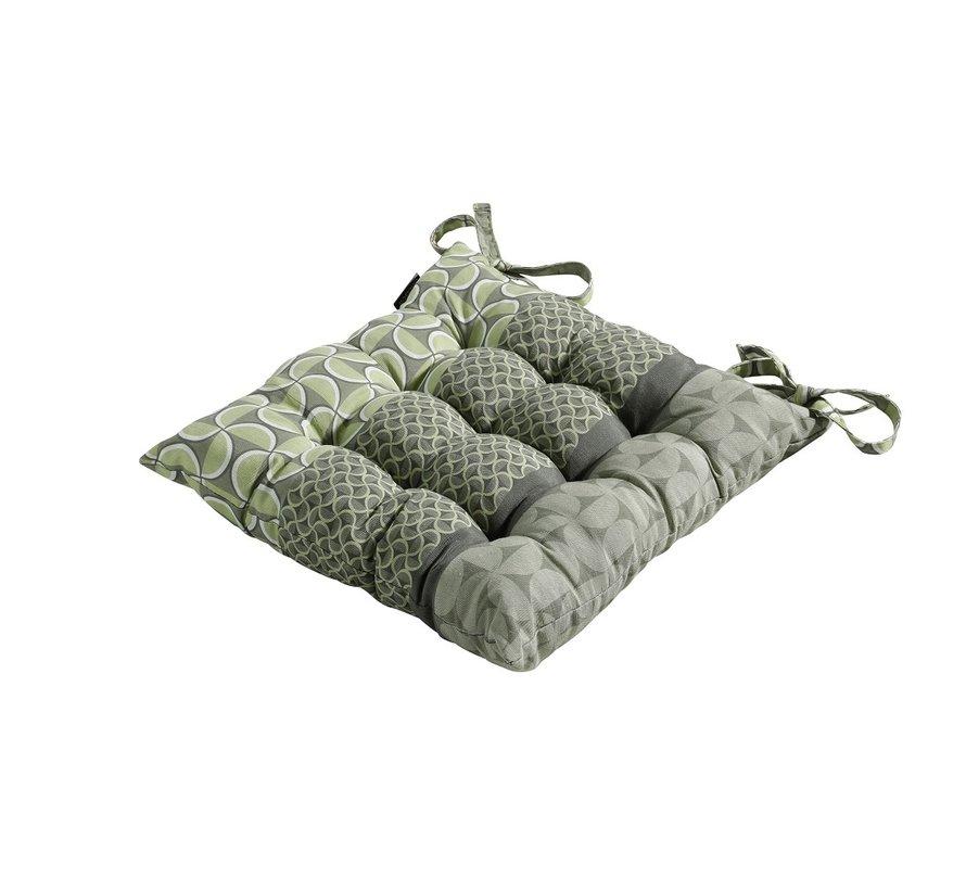 Toscane Sitzkissen für Gartensessel oder Gartenbank 46x46cm Grün