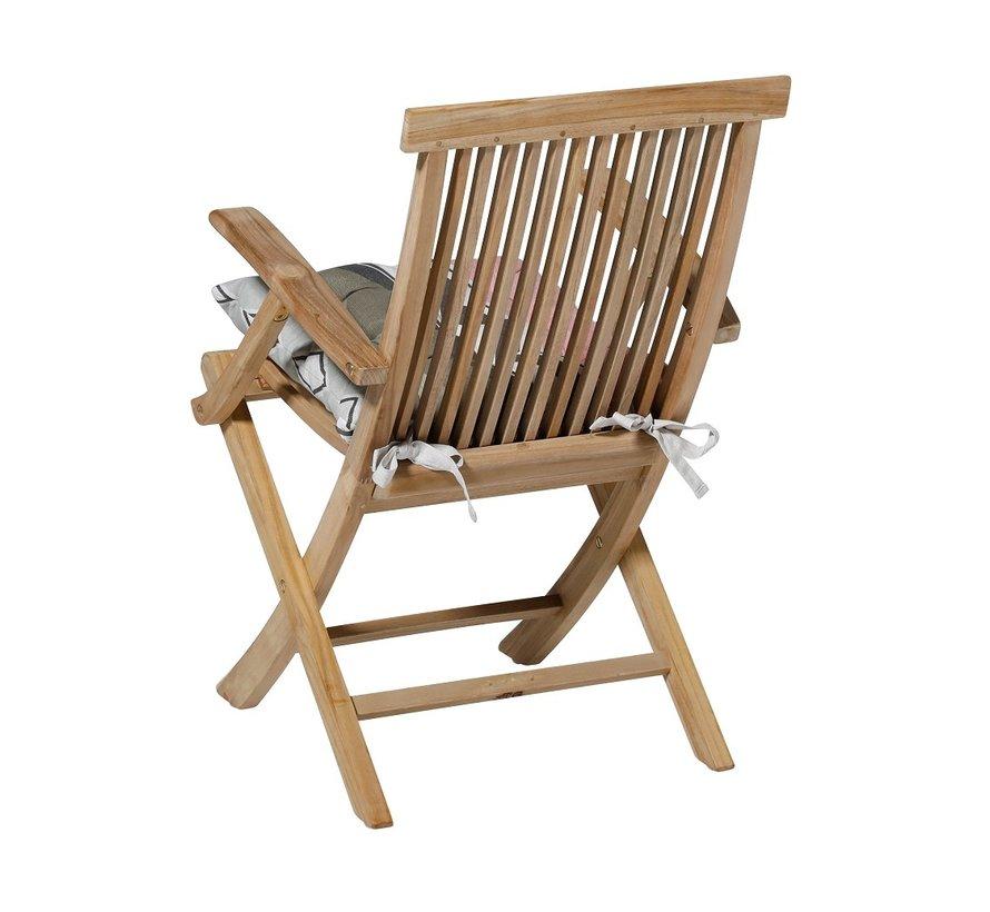 Toscane Sitzkissen für Gartensessel oder Gartenbank 46x46cm Chris Rosa