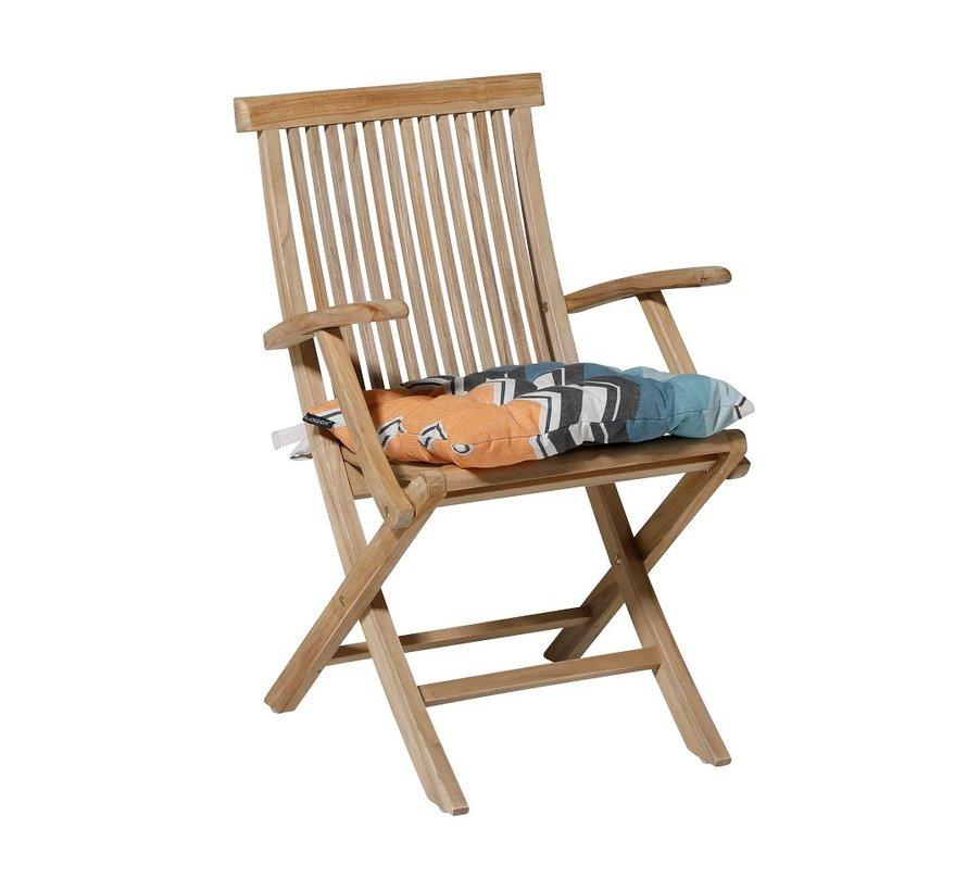 Toscane Sitzkissen für Gartensessel oder Gartenbank 46x46cm Chris Gelb