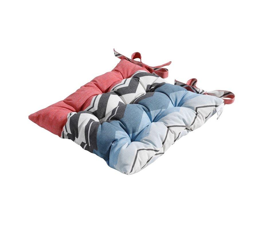 Toscane Sitzkissen für Gartensessel oder Gartenbank 46x46cm Chris Rot