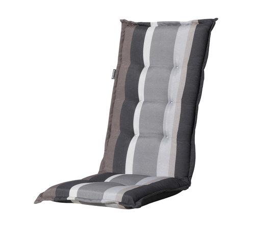 Madison Madison Stuhlauflage Hochlehner Stripe Grau 123cm
