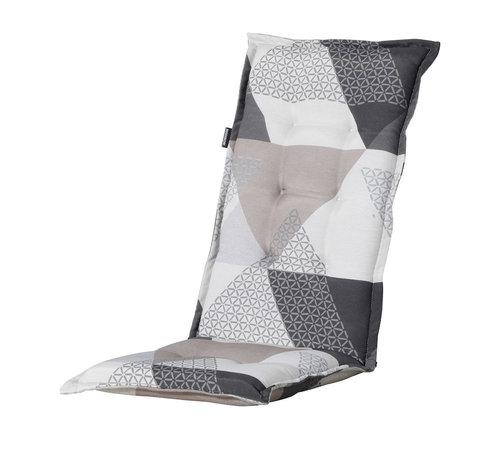 Madison Madison Stuhlauflage Hochlehner Triangle Grau 123cm