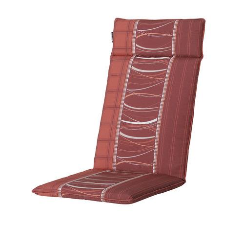 Madison Madison stoelkussen hoge rug Lines Rood 123cm