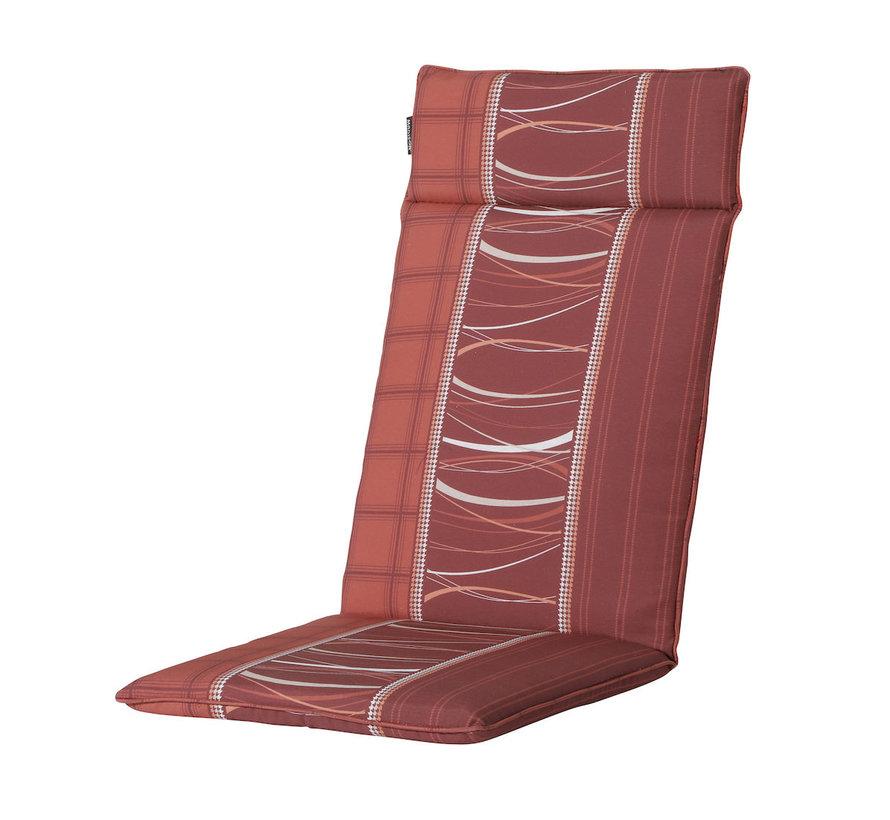Madison stoelkussen hoge rug Lines Rood 123cm