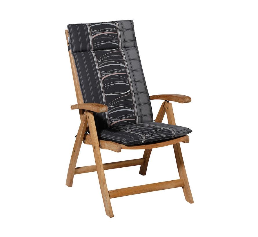 Madison stoelkussen hoge rug Lines Grijs 123cm