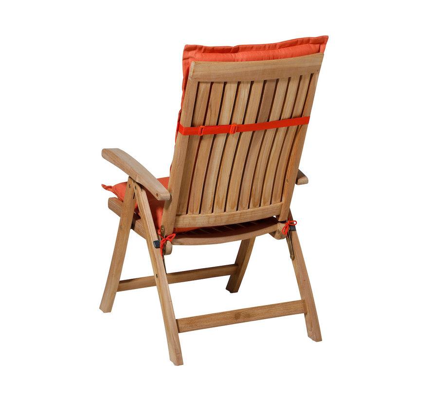 Madison stoelkussen hoge rug Oranje 123cm