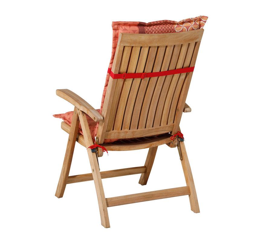 Madison stoelkussen hoge rug Pasa Rood 123cm