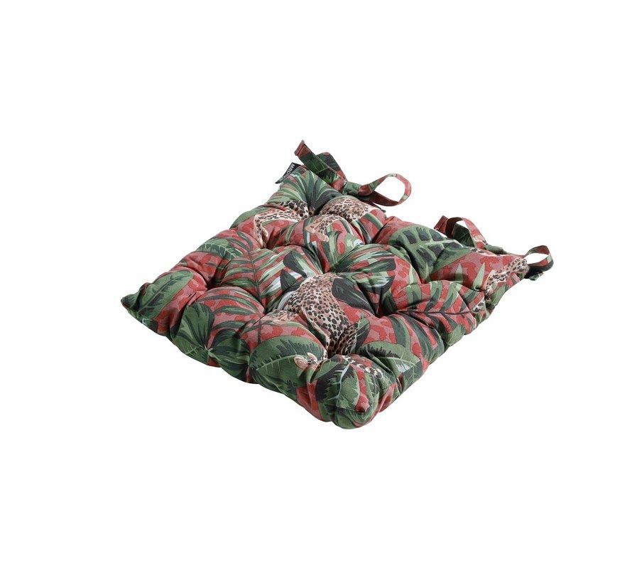 Toscane Sitzkissen für Gartensessel oder Gartenbank 46x46cm Lenny Rot