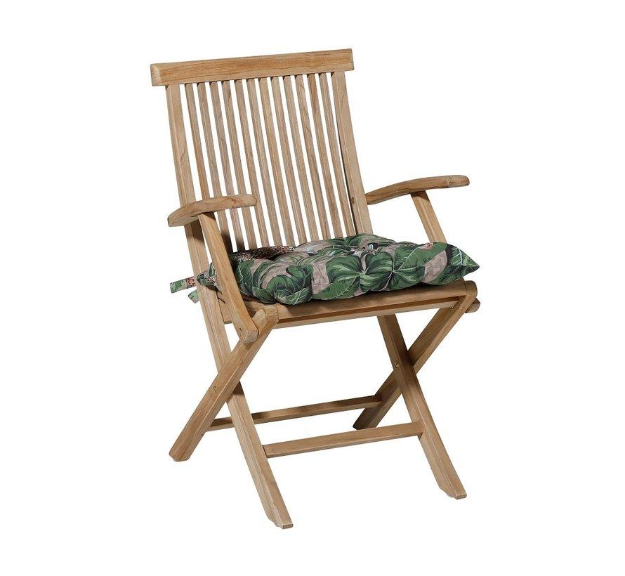 Toscane Sitzkissen für Gartensessel oder Gartenbank 46x46cm Lenny Taupe