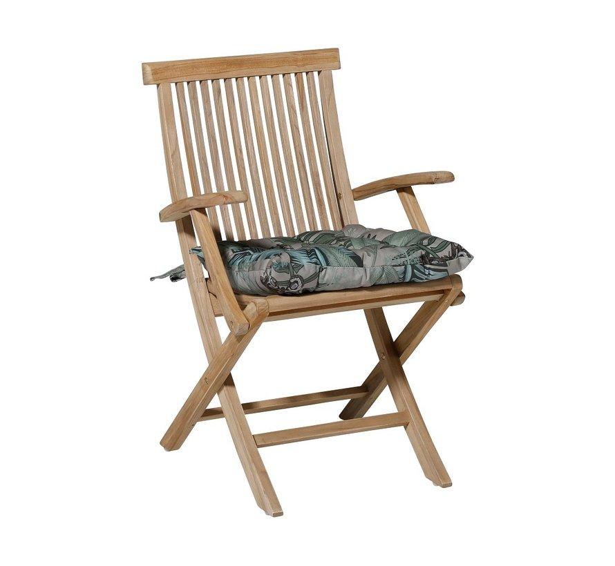 Toscane Sitzkissen für Gartensessel oder Gartenbank 46x46cm Lenny Grau