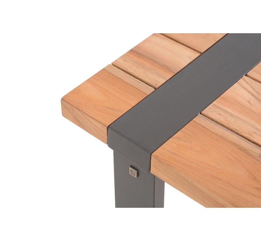 Alto Teakholz Gartentisch mit Aluminium Gestell 180cm x 100cm