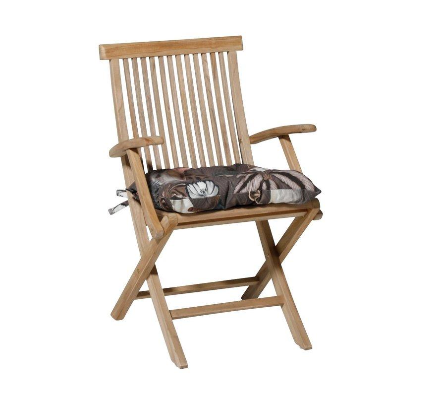 Toscane Sitzkissen für Gartensessel oder Gartenbank 46x46cm Sofie Taupe