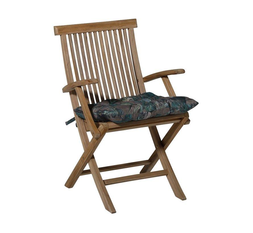 Toscane Sitzkissen für Gartensessel oder Gartenbank 46x46cm Floris Grau