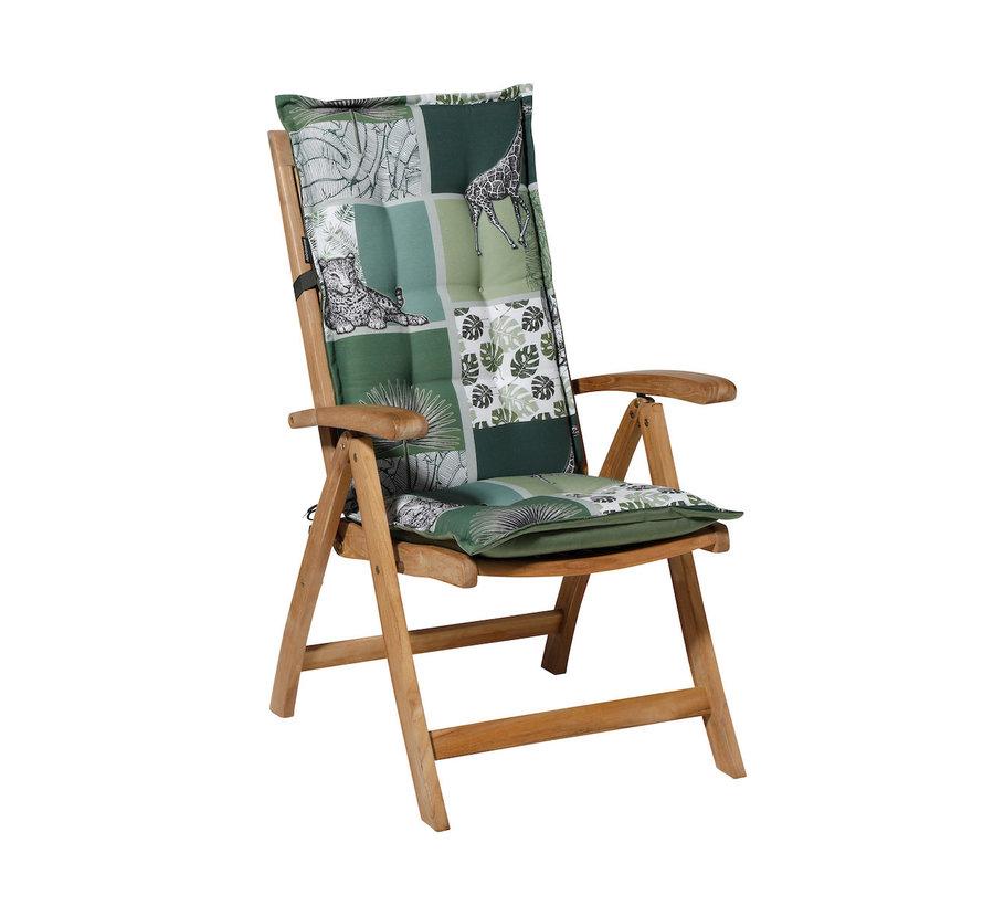 Madison stoelkussen hoge rug Sifra Groen 123cm