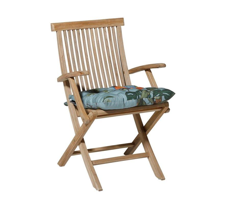Toscane Sitzkissen für Gartensessel oder Gartenbank 46x46cm Riff Blau