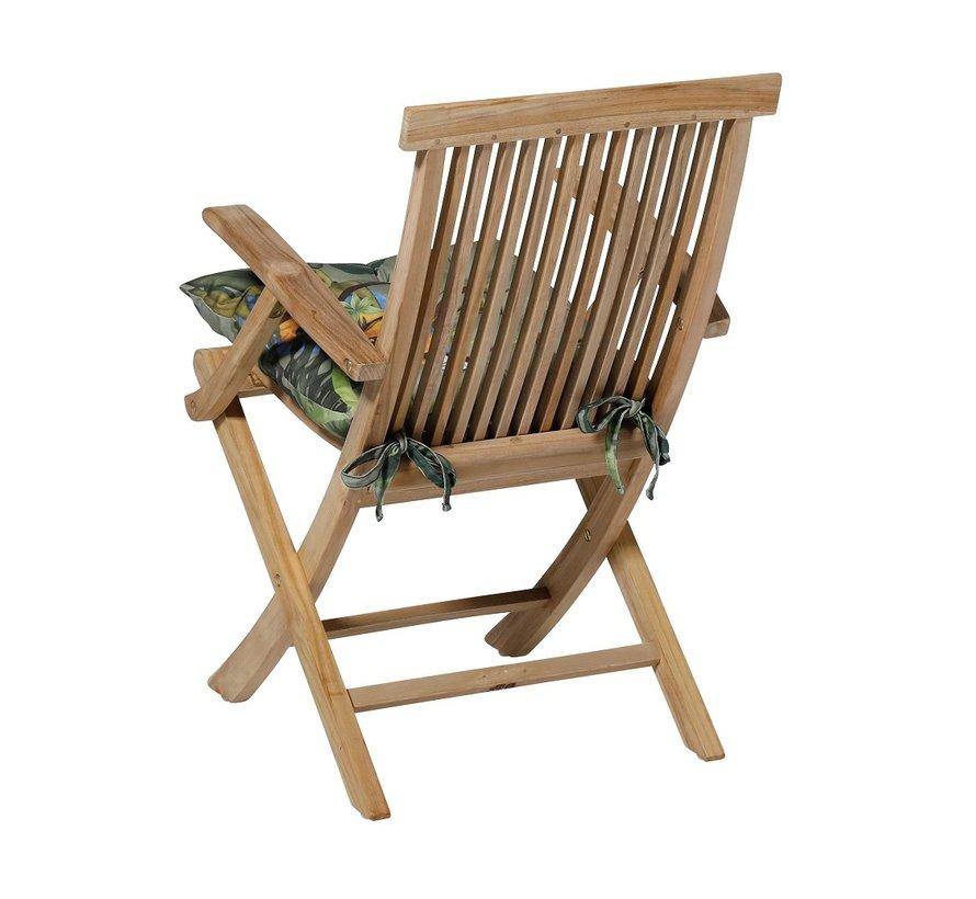 Toscane Sitzkissen für Gartensessel oder Gartenbank 46x46cm Riff Groen