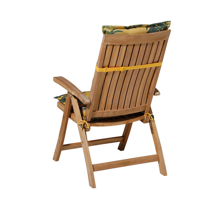 Madison stoelkussen hoge rug Riff Geel 123cm