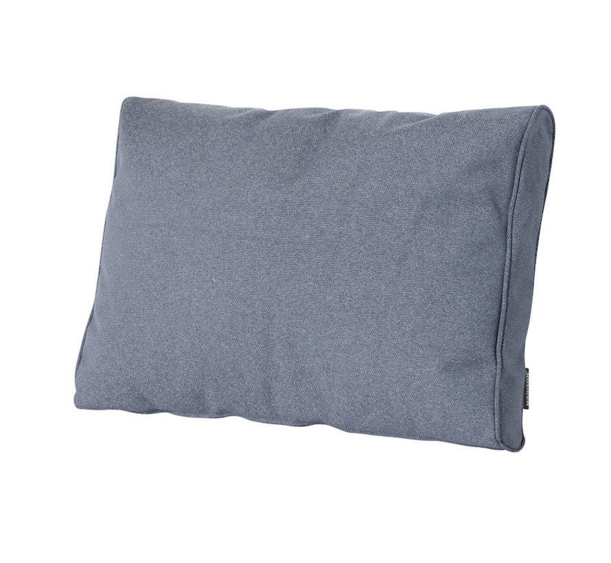 Outdoor Manchester Rückenkissen für Loungemöbel und Garnitur 73 x 43cm - Denim Grau