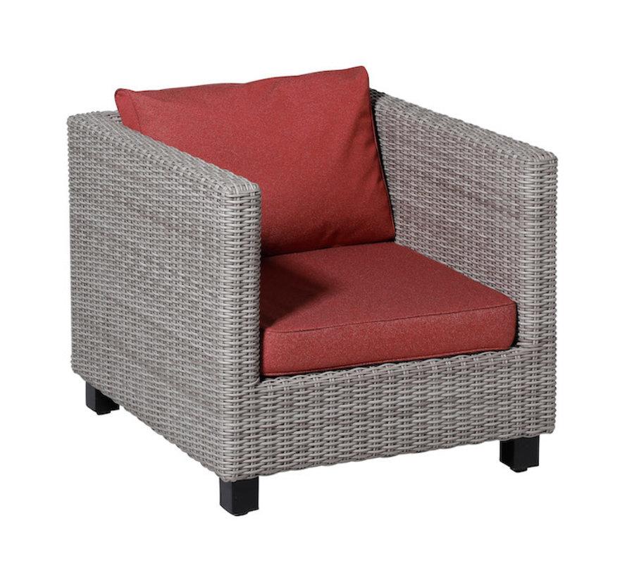 Outdoor Manchester Tuinkussens voor Lounge- of Tuinset 60 x 60cm - Rood