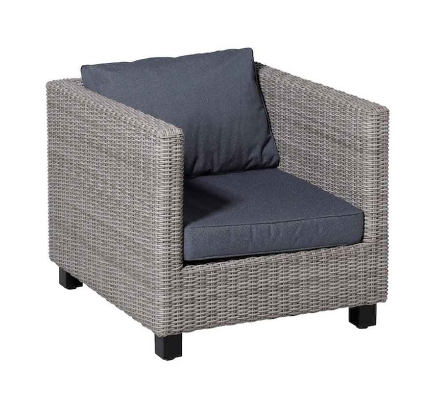 Outdoor Manchester Kissenset für Loungemöbel und Garnitur 60 x 60cm - Denim Grau